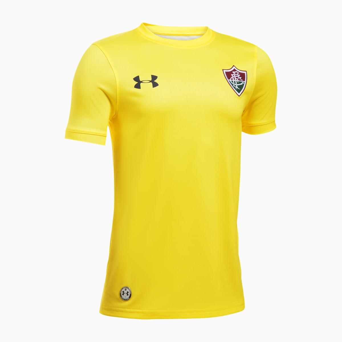 1609e3f89f6e6 Camisa Fluminense Goleiro Amarela 17 18 s nº Under Armour Infantil ...