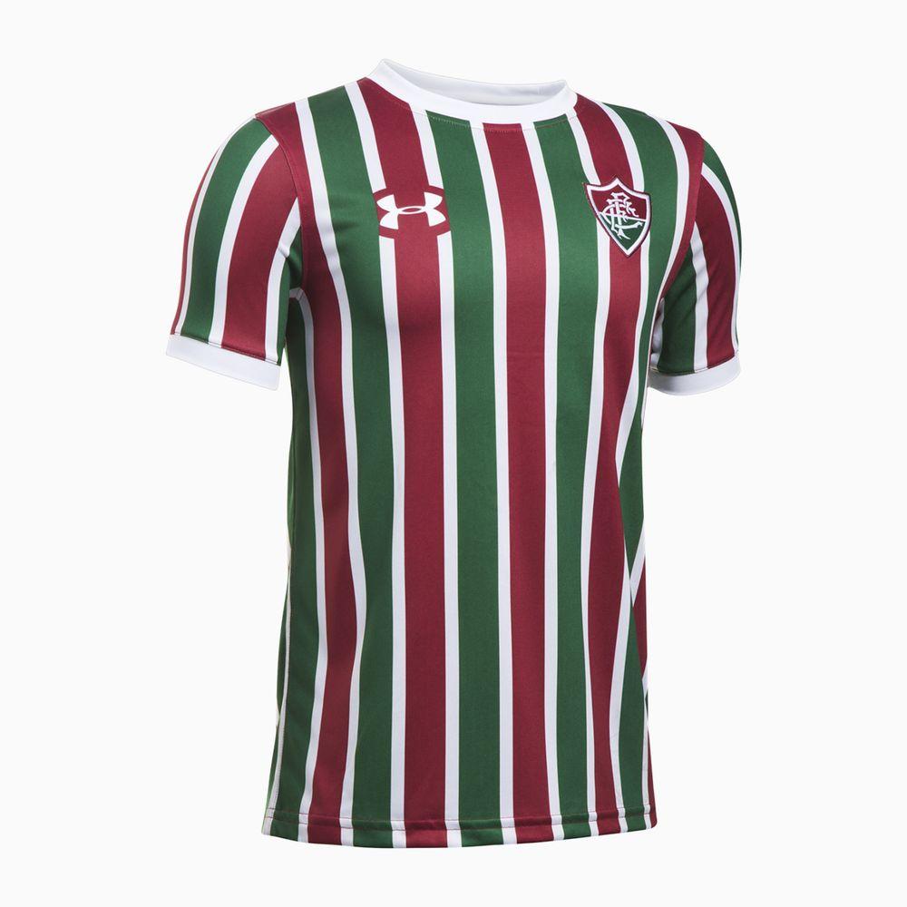 Camisa Fluminense I 17 18 s nº Torcedor Under Armour Infantil 1f3c5f68a9218