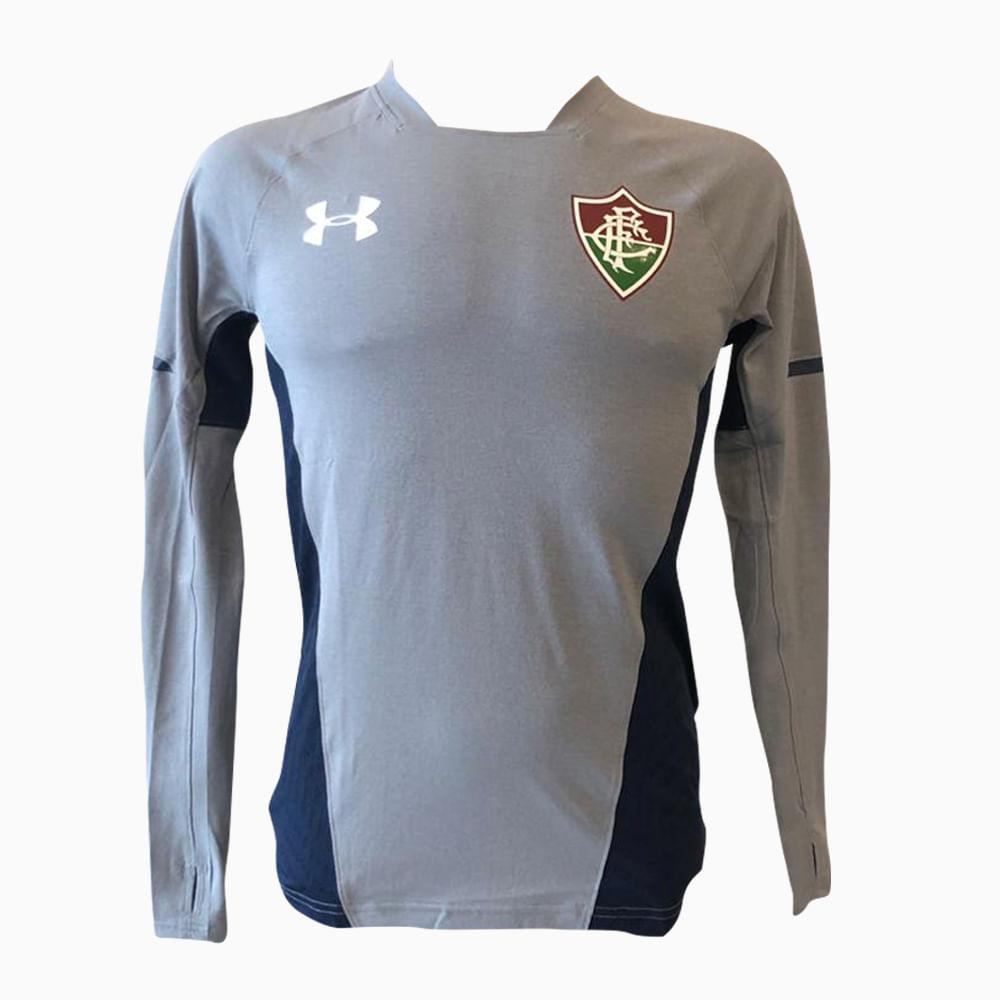 Camisa Fluminense Treino Manga Longa Cinza 19 s nº Under Armour 872d265b231d8